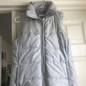 Old Navy gray puffer vest